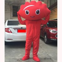 Performance Red Dumplings Mascot Costume Halloween Christmas Fancy Party Cartoon Character Outfit Suit Adult Women Men Dress Carnival Unisex Adults