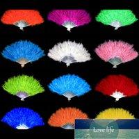 9 색 깃털 팬 접는 댄스 핸드 팬 여성을위한 팬시 의상 웨딩 파티 용품 파티 ACC