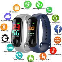 Armbanduhren FXM Intelligente Sportmänner Frauen Armband Herzfrequenz Schlafüberwachung Stepcounter Wasserdichte Uhr und Bluetooth-Link