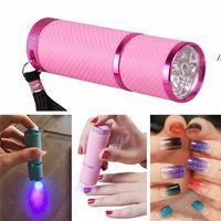 New Mini UV Led Lamp Dryer for Gel Nails Flashlight Portability Machine Nail Art Tools EWF7698