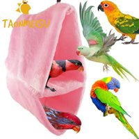 Bird Cages Warm Double-layer Lint Nest Cage Parrot Cotton Hammock Triangle Nests Supplies Small Pet Hamster Accessories