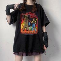 Women's T-Shirt 2021 Summer Fashion Shirt Graphic Death Evil Devil Printing T Women Tops Base Plus Size Black Tees Fun Girls O-neck Tshirt