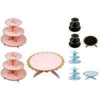3- Piece Cupcake Stand Dessert Tower 3 Layers (2PC) + 1 Layer...