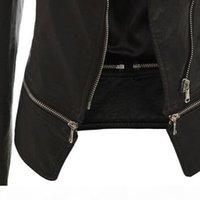 Spring Autumn New Fashion Black Leather Jacket For Women Slim Short Faux Leather Motorcycle Jacket Plus Size Leather Coat Female