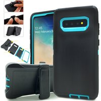 Galaxy Defender Phone Cases Hybrid Robot 3in1 Shockproof Heavy Duty Scratchproof Case With Belt Clip Holster For Samsung S21 Ultra S20 Plus S7 Edge S8 S9 S10 Note 10 9