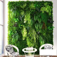 파티 장식 인공 식물 벽 잔디밭 가짜 꽃 웨딩 아열대 잔디 배경 스탠드 크실랜드