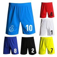 سوبر ضوء كرة القدم السراويل الرياضية الرجال النساء ارتداء diy مخصص سريع الجفاف كرة القدم تشغيل اللياقة البدنية الرياضة السراويل مرونة الخصر قصيرة