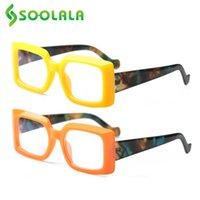 نظارات شمسية SOOLALA 2 قطع الحلوى لون ساحة مكافحة الضوء الأزرق نظارات القراءة النساء السيدات بعيد النظر بلا حدود قارئ النظارات +0.5 0.75