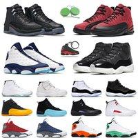 12 أداة طحن أحذية كرة السلة Reverse Flu Game Twist 11s للرجال والنساء Legend Blue Space Jam Platinum Tint 13s Obsidian Red Flint Lucky Green أحذية رياضية رجالي