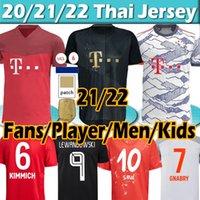 FC Bayern Munich بايرن لاعب الإنسان 2020 21 سباق ميونيخ سانه المشجعين لكرة القدم الفانيلة Lewandowski ديفيز مولر غنو ميونيخ الرجال كيت كيت كرة القدم القمصان الأعلى