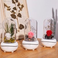 Eternal Rose Aromatherapy Diffuser Essential Oil Aroma Humidifiers 7 Color LED Night Light Office Home Car Decoration Lamp Gift BWF7720