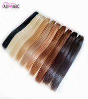 AliMagic Human Hair Bundles Perruques De Cheveux Humains Remy Virgin Double Weft Mechanism Weaving High Quality 100g lot 12 To 26 Inch Factory Outlet