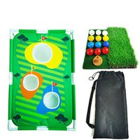 Golf Eğitim AIDS 2021 Katlanabilir Ynaplama Net Cornhole oyunu Set Golf Hedef Kapalı Açık Uygulama için 12 Topları