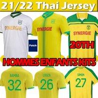 2021 2022 Maillots FC Nantes Etoile Futbol Formaları 2000-01 Şampiyonlar 21/22 Yeniden Edition Girotto Coulicy Blas Kolo Muani Simon Futbol Gömlek Erkekler Çocuklar Maillot De Ayak