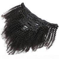 120G 8 шт. Афро Куриный клип в наращивание волос наращивание волос