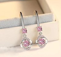 Luxury Designer Clover Dangle Earrings Party Gift with Shining Crystal CX Diamond Stone S925 Silver Wedding Jewelry