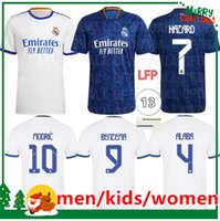 21 22 REAL MADRID soccer jerseys HAZARD ALABA BENZEMA ASENSIO MODRIC MARCELO Isco 2021 2022 home away football shirts men + kids kit