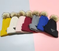 Women's outdoor earmuffs new winter hats Designer Beanies thick warm twisted wool cap Europe and the United States hot knit hat 6 Colors