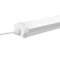 Tubo 5000K LED Lampada da soffitto LED, IP66 impermeabile 4ft Plug da cucina, corridoio, garage, magazzino, seminterrato, vanità e ufficio (Bianco fresco)