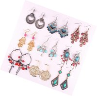 Mix Colors Style Fashion Dangle Chandelier Earrings For DIY Gift Craft Jewelry 10Pairs Lot EA06