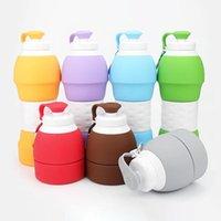 Bardaklar Sunuşer 1 ADET 580 ml Açık Spor Geri Çekilebilir Su Şişesi Katlanabilir Kupası Sızdırmaz Katlanır Kahve Seyahat Taşınabilir Çay Kupalar