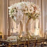Parti Dekorasyon Düğün Kemer Altın Zemin Standı Metal Çerçeve 95 cm Tall Çiçek Büyük Centerpiece Masa Dekor Standları
