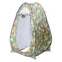 1-2 persona al aire libre Vestido naranja Camping Shelter Portable Pop Up Ducha Ducha Tienda Sala de privacidad