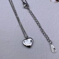 10 Design Mix Hohe Qualität Extravagant Schmuck Mode Herz G Anhänger Halskette Edelstahl Gold Silber Rose Plattiert für Mädchen Frauen Großhandel