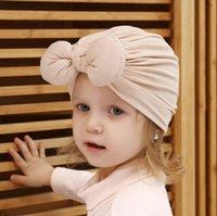 Cotton Spring Summer Infant Indian Bowknot Baby Boy Girl Hat Children's Cap Turban Hats