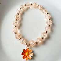 Los anillos de compromiso de los pendientes del diseñador, las pulseras y los collares de oro son los favoritos de las mujeres pulseras de encanto verano margarita margarita niña corazón cristal brazalet489
