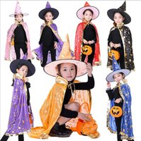Factory Wholesals! Установки боевых искусств Хэллоуин плащ Косплей ведьма волшебник Клаукк Детская пятизвездочная бронзинговая плаща