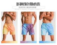Hose Sommer Wasser Badestämme Strandhosen Herren große warme Farbwechsel Shorts