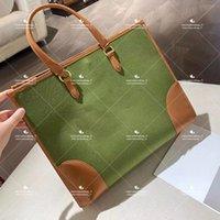 Cor sólida bolsas de moda borda a lona grande capacidade tote senhoras no saco de compras quadrado clássico com alça de couro para casual
