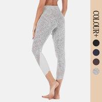 Leggings da donna fitness esercizio fisico aderente tappetino aderente maglia a vita alta a vita alta a vita alta stretch pantaloni trindiani