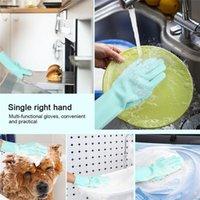 마술 실리콘 접시 세척 장갑 주방 액세서리 식기 세척 장갑 자동차 애완 동물 브러쉬 owf9141