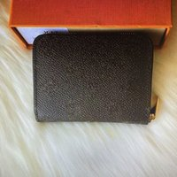 N63069 N63070 M60067 M60740 Zippy Moda Bayanlar Kompakt Fermuar Çanta Kısa Cüzdan Lüks Tasarımcı Orijinal Cep Kart Sikke Çantalar Küçük Cüzdan Kutusu ile
