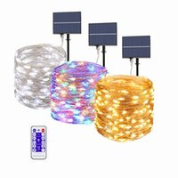 Solar Lamps Led Light Outdoor Waterproof 300 500 Leds Fairy String Lights Garland For Holiday Christmas Garden Decoration