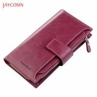 Wallets Jaycosin 2021 Women's Money Bag Hasp Zipper Long Clips Coin Purses Fashion Brand Multifunction Organizer