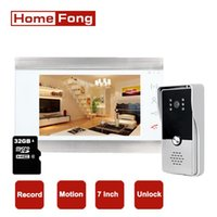 Homefond 7-Zoll-Farb-kabelgebundene Video-Intercom-Türsprechanlage mit Türklingel-Kamera-Aufzeichnungs-Bewegung-Entwertung Volumen-Klingelton-Telefone