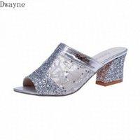Zapatillas frescas para mujer 2020 Primavera y verano Nuevas Sandalias de la boca de los hilos de netos sexy con huecos con huecos zapatos para mujer de gran tamaño zapatos de moda pies felices sl s522 #