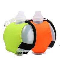 Newmini Garrafas de água de pulso Kettle Silicone Portátil Ao Ar Livre Ciclismo Esportivo Fluorescente Gym Soft Hand-Hand-Hand-Hand-held EWF7474