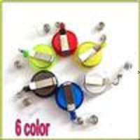 Random Color Retractable Ski Pass ID Card Badge Holder Key Chain Reels With Metal Clip BWD7581