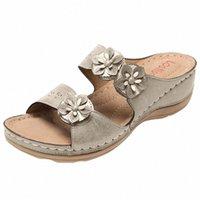 Садья женские тапочки сандалии для женщин квартиры открытые пальцы толстые нижние удобные обувь клинья тапочки новые летние пляжные тапочки K5JN #