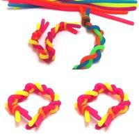 FIDGET 감압 로프 DIY 국수 밧줄 감각 장난감 어린이 성인 FIDGET ABREACT 유연한 접착제 로프 스트레치 스트링 네온 슬링 FY4523
