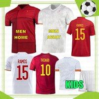 2021 Espana Futbol Jersey Koke Morata Rodrigo Torres Pedri İspanya Hayranları Oyuncu Sürüm Futbol Gömlek Ramos Thiago Erkekler Çocuk Kiti Camisetas de Futbol Avrupa Euro Kupası