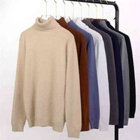 Korean Men Sweater 2020 Turtleneck Knitted Sweaters Pullover Autumn Jersey De Hombre Fashionable Male Winter Clothing Pull Homme