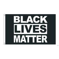 50 ADET Doğrudan Fabrika Toptan 90 * 150 cm 3x5 FTS Siyah Hayatlar Madde Bayrak BLM Barış Protesto Açık Banner HWE5586