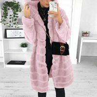 Women's Fur & Faux Winter Women High Quality Coats Hoody Long Soft Fluffy Jacket Overcoat Thick Warm Plus Size Female Plush Outerwear 5XL