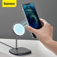 Baseus Magnetic Wireless Charger Pad Desktop Bracket Phone Stand Quick Wireless Charging For iPhone 12 Pro Max Phone Holder