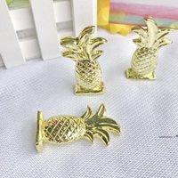 Suporte de cartão de lugar de abacaxi de ouro com presentes de festa de cartão em branco favores de casamento decoração de mesa fwd9854